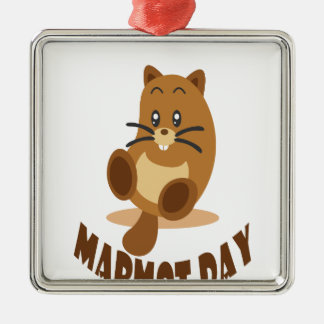 2nd February - Marmot Day Metal Ornament