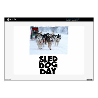 2nd February - Sled Dog Day Laptop Decals