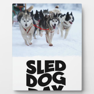 2nd February - Sled Dog Day Plaque