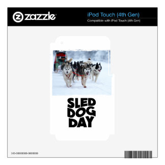 2nd February - Sled Dog Day Skin For iPod Touch 4G