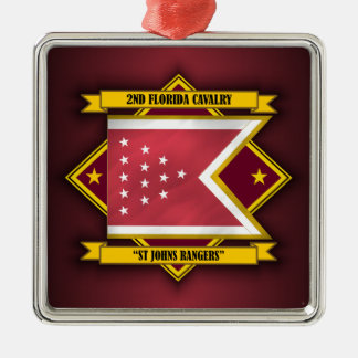 2nd Florida Cavalry (St Johns Rangers) Metal Ornament