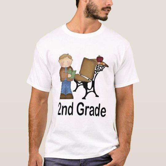 2nd Grade Boy and Desk T-Shirt