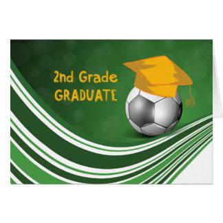 2nd Grade Graduation, Soccer Ball and Hat Card
