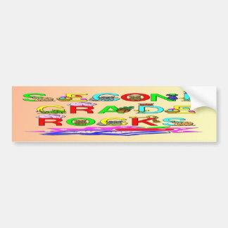 2nd Grade Rocks Car Bumper Sticker