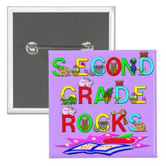 2nd Grade Rocks Button