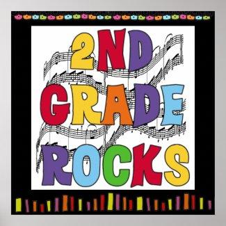 2nd Grade Rocks Classroom Poster