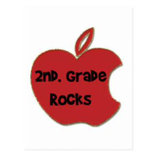 2nd. Grade Rocks Postcard