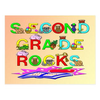 2nd Grade Rocks Postcard