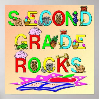 2nd Grade Rocks Poster