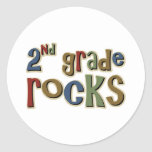 2nd Grade Rocks Second Classic Round Sticker