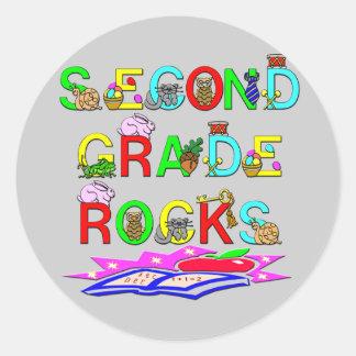 2nd Grade Rocks Classic Round Sticker