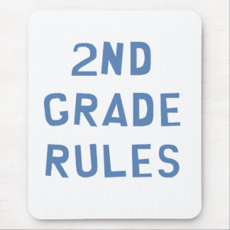 2nd Grade Rules Mouse Pad