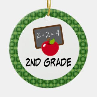 2nd Grade School Apple Ornament Keesake Gift