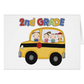 2nd Grade School Bus Card