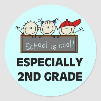 2nd Grade School is Cool Tshirts and Gifts Classic Round Sticker