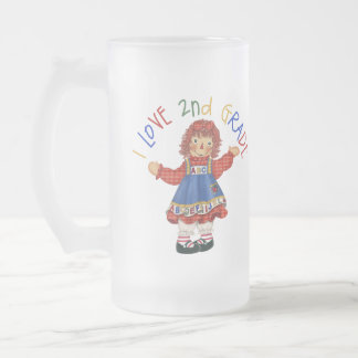 2nd Grade Student Gift Frosted Glass Beer Mug