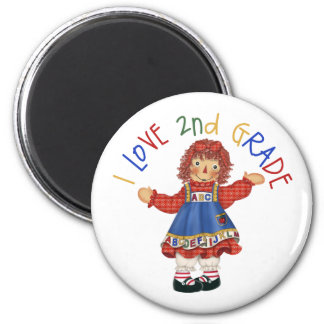 2nd Grade Student Gift 2 Inch Round Magnet