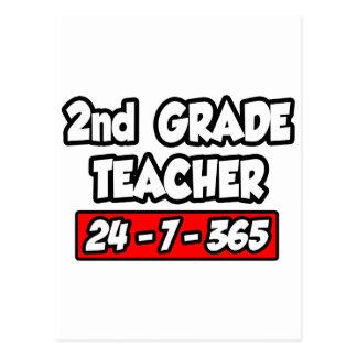 2nd Grade Teacher 24-7-365 Postcard