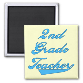 2nd Grade Teacher Blue Tshirts and Gifts Magnet