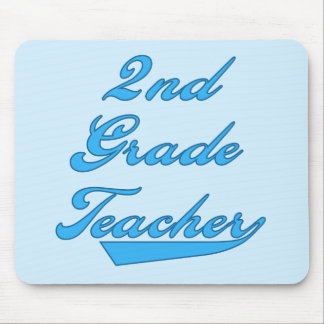 2nd Grade Teacher Blue Tshirts and Gifts Mouse Pad