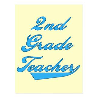 2nd Grade Teacher Blue Tshirts and Gifts Postcard