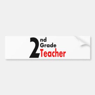 2nd Grade Teacher Bumper Sticker