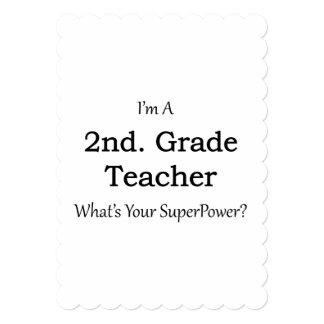 2nd. Grade Teacher Card