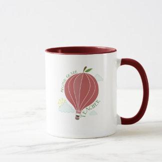 2nd Grade Teacher Hot Air Balloon Apple Mug
