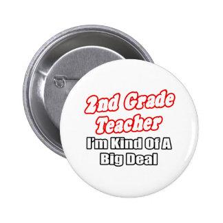 2nd Grade Teacher...Kind of a Big Deal Button