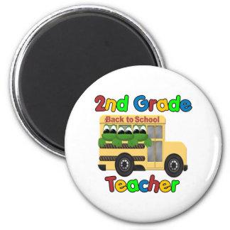 2nd Grade Teacher 2 Inch Round Magnet