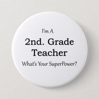 2nd. Grade Teacher Pinback Button