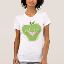 2nd Grade Teacher Pink & Green Apple T-Shirt