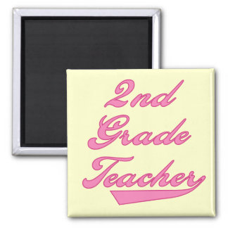 2nd Grade Teacher Pink Tshirts and Gifts Magnet