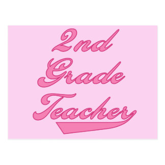 2nd Grade Teacher Pink Tshirts and Gifts Postcard