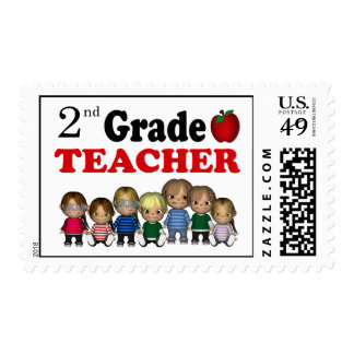 2nd Grade Teacher Postage Stamps