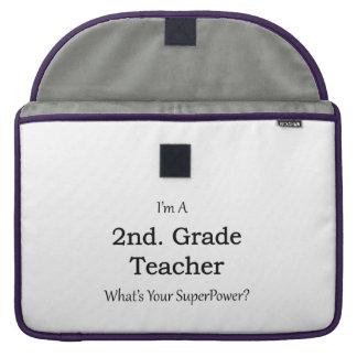 2nd. Grade Teacher Sleeve For MacBooks