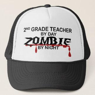 2nd Grade Teacher Zombie Trucker Hat