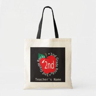 2nd Grade Teachers Rock | DIY Name Budget Tote Bag