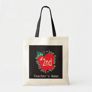 2nd Grade Teachers Rock   DIY Name Tote Bag