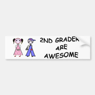 2ND GRADERS ARE AWESOME Bumper Sticker