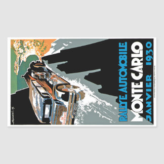 2nd Grand Prix Automobile de Monte Carlo Rectangular Sticker