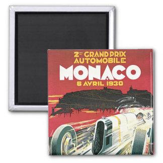 2nd Grand Prix de Monaco 2 Inch Square Magnet