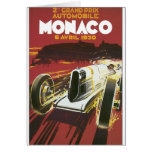 2nd Grand Prix Monaco Vintage Travel Poster