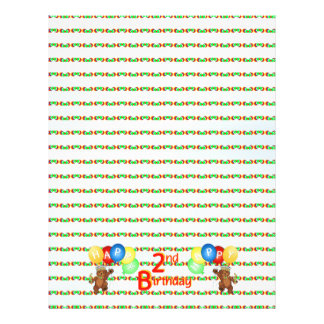 2nd Happy Birthday Bear Scrapbook Paper 5
