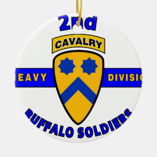 "2ND HEAVY CAVALRY DIVISION ""BUFFALO SOLDIERS"" CERAMIC ORNAMENT"