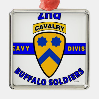 "2ND HEAVY CAVALRY DIVISION ""BUFFALO SOLDIERS"" METAL ORNAMENT"