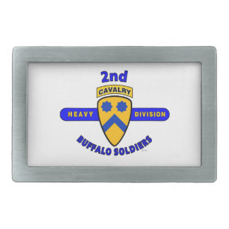 "2ND HEAVY CAVALRY DIVISION ""BUFFALO SOLDIERS"" RECTANGULAR BELT BUCKLE"