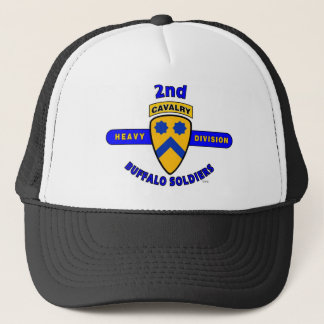 """2ND HEAVY CAVALRY DIVISION """"BUFFALO SOLDIERS"""" TRUCKER HAT"""