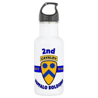 """2ND HEAVY CAVALRY DIVISION """"BUFFALO SOLDIERS"""" WATER BOTTLE"""