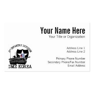 2nd ID DMZ Korea Vet Business Card Templates